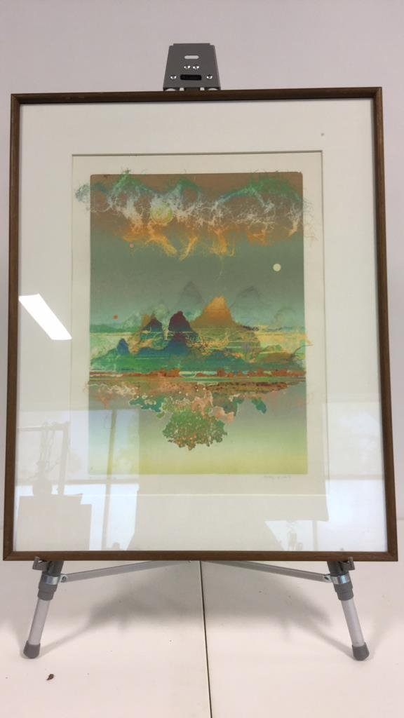 Signed Vintage Lithograph - 2