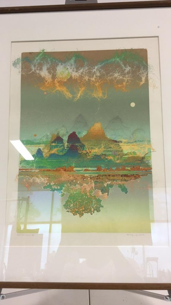 Signed Vintage Lithograph - 3