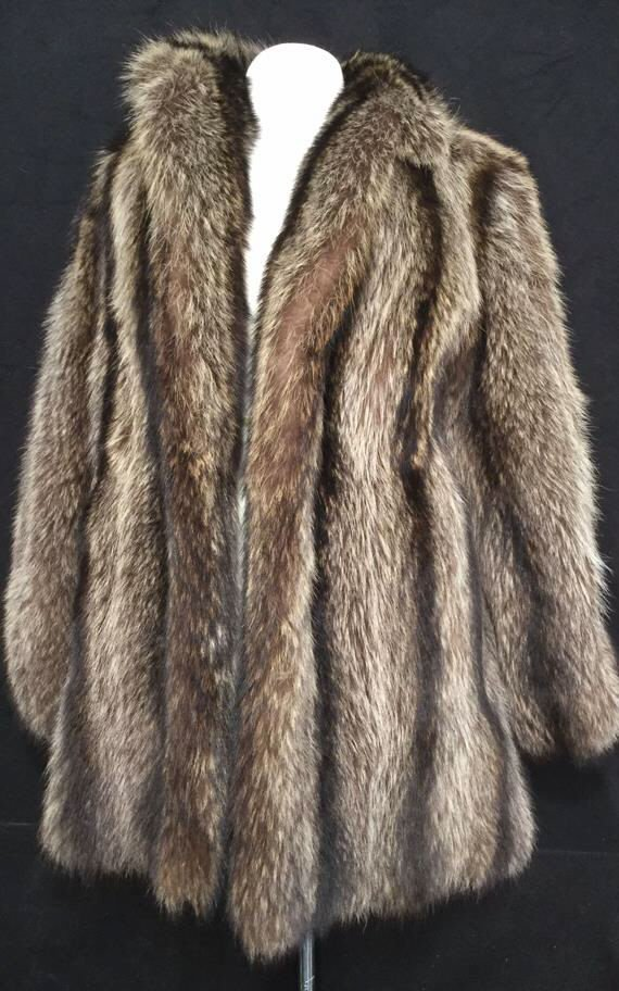 Vintage Raccoon Fur Jacket