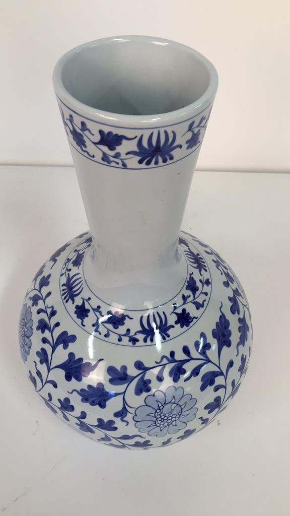 Large Blue and White Vase From Taiwan - 2