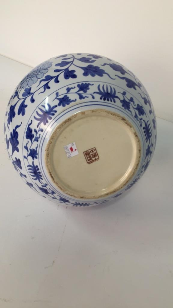 Large Blue and White Vase From Taiwan - 5
