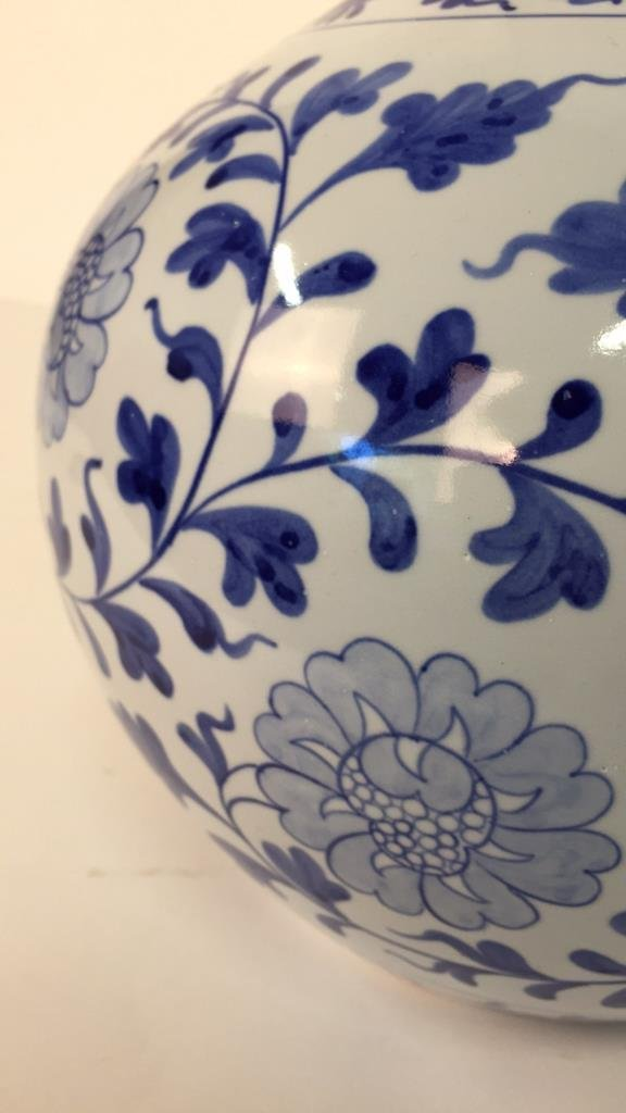 Large Blue and White Vase From Taiwan - 6