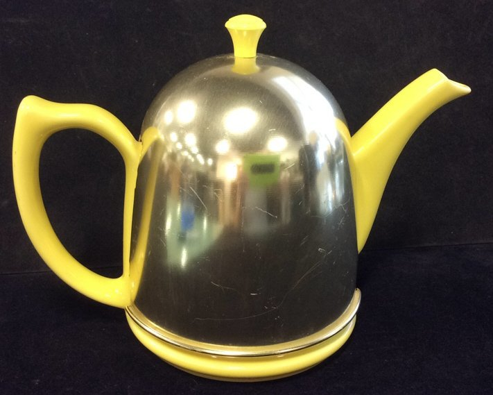Hall porcelain and metal dome shaped teapot