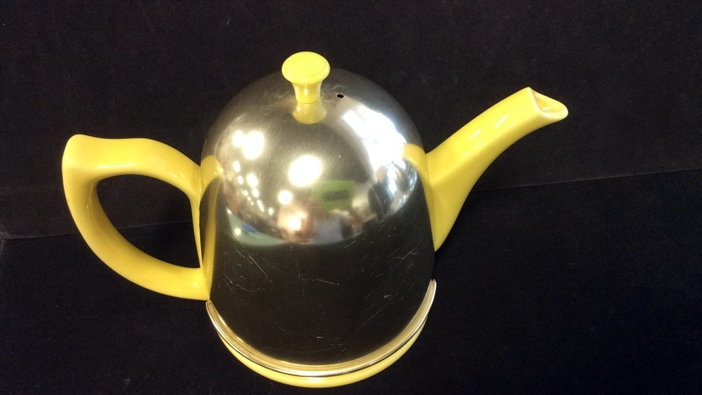 Hall porcelain and metal dome shaped teapot - 2