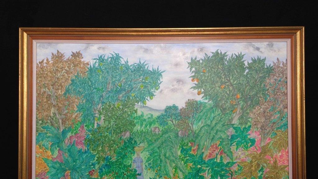 Vintage Gold Framed Jungle Painting - 2