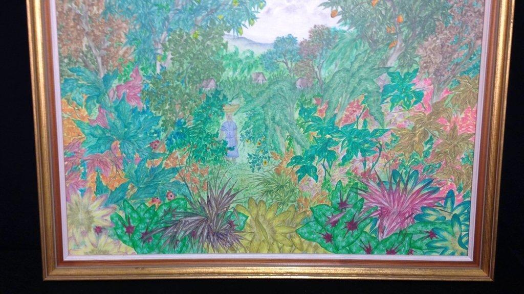 Vintage Gold Framed Jungle Painting - 3
