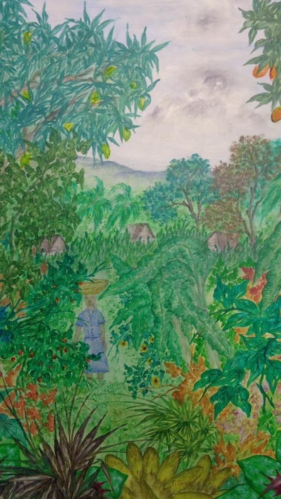 Vintage Gold Framed Jungle Painting - 5
