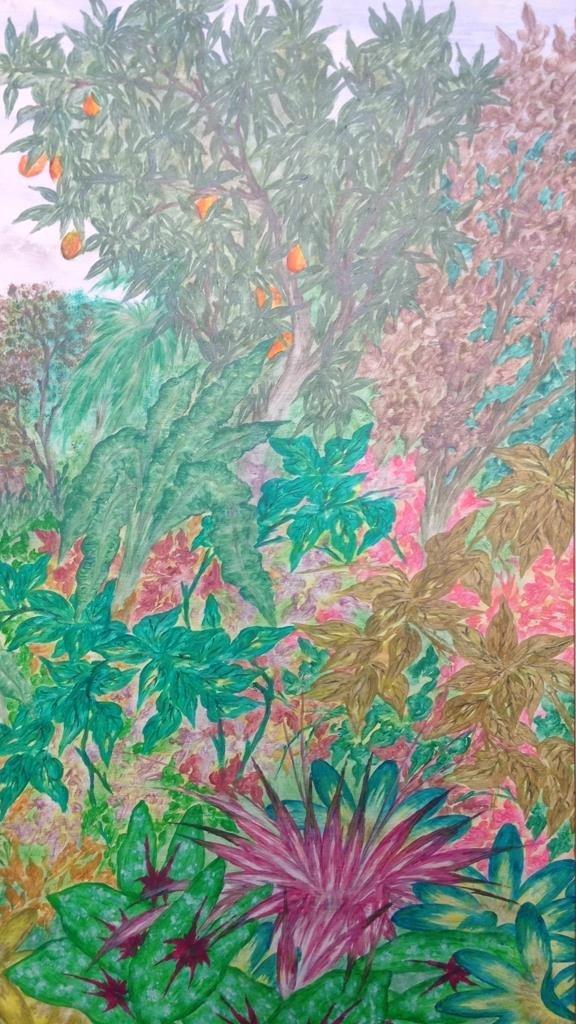 Vintage Gold Framed Jungle Painting - 6