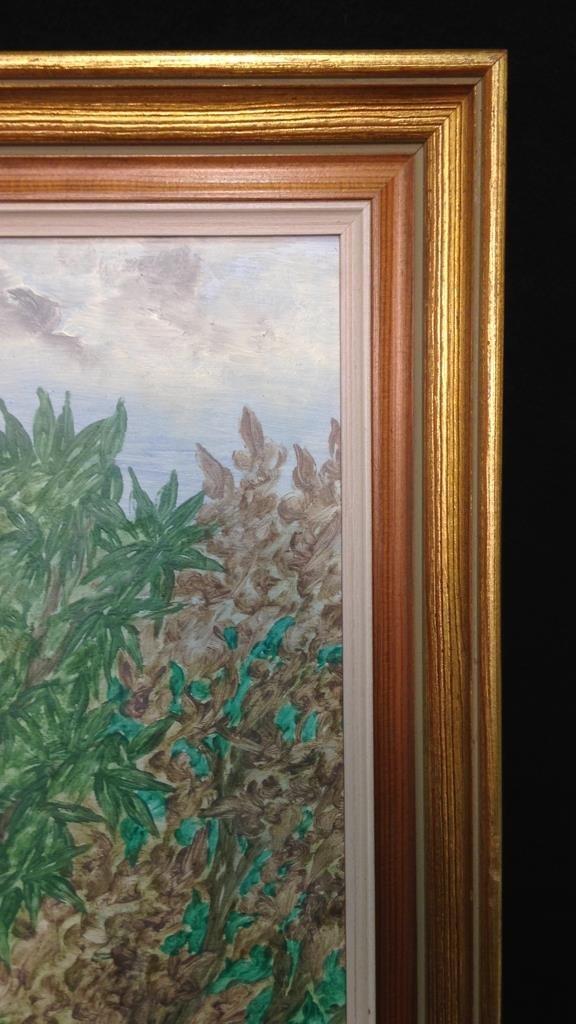Vintage Gold Framed Jungle Painting - 7