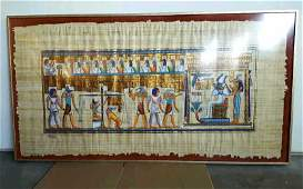 Egyptian Hieroglyphic on Papyrus