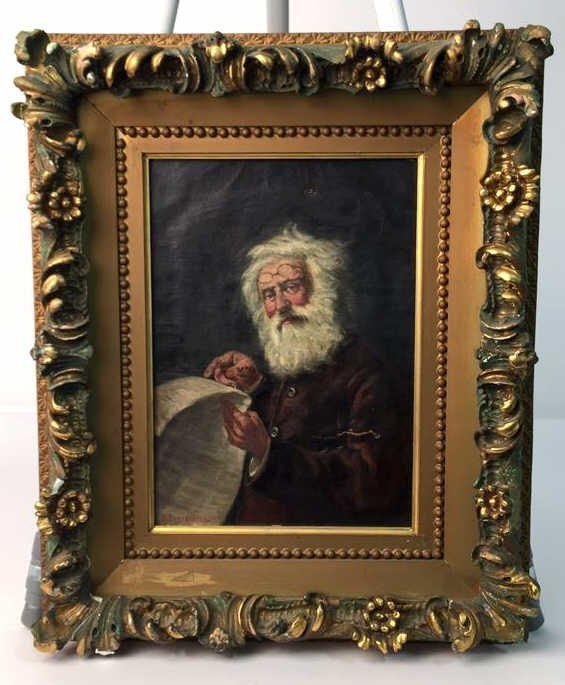 Antique Oil on Canvas signed D BOUNGIORO