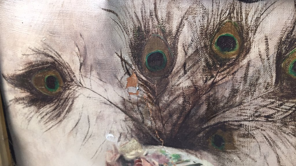 Antique Signed Illegibly Oil on Canvas Still Life - 3
