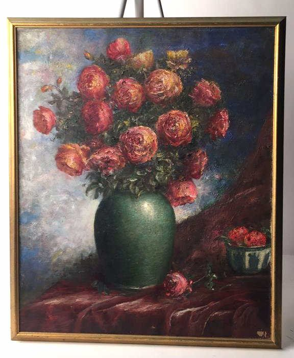 Signed A MULLER UZY 1933 Oil on Canvas