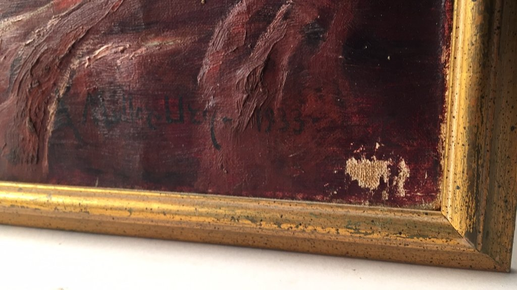 Signed A MULLER UZY 1933 Oil on Canvas - 2