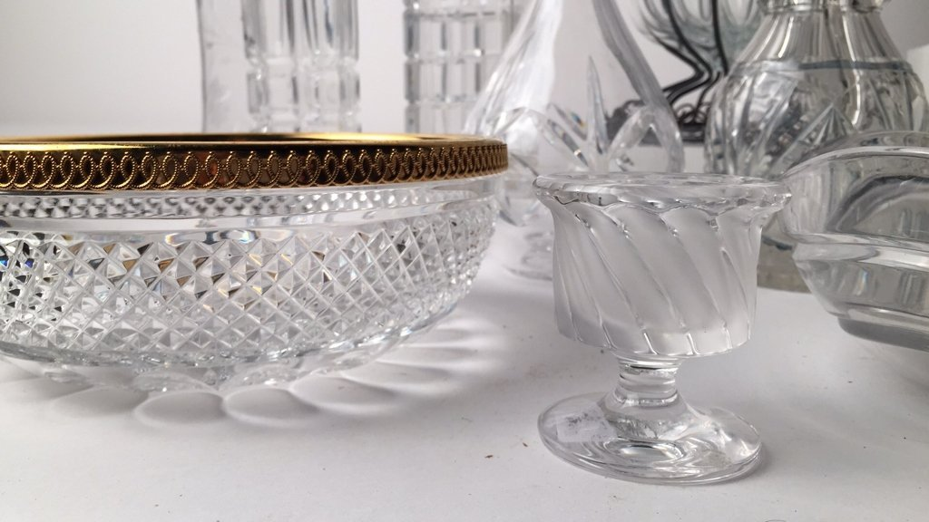 Group Lot 12 TIFFANY, LALIQUE & Misc Crystal - 2