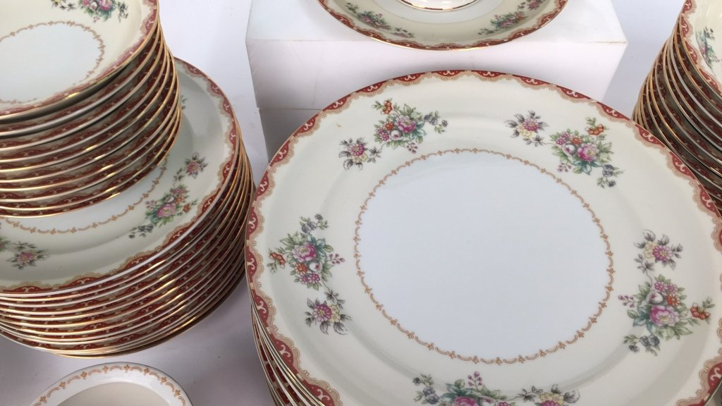 Partial Set MEITO CHINA Ivory Floral - 2