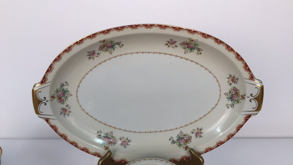 Partial Set MEITO CHINA Ivory Floral - 3