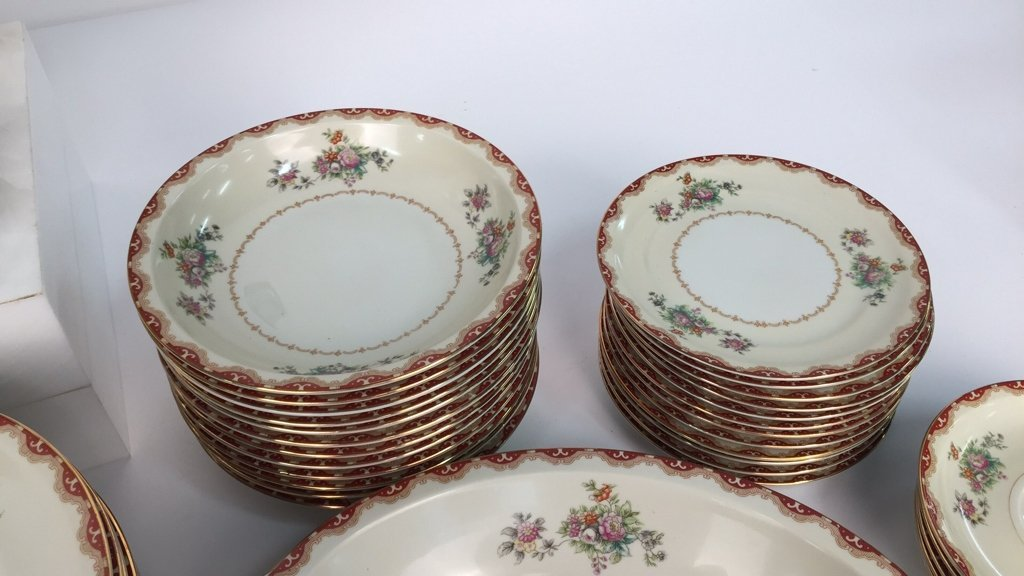 Partial Set MEITO CHINA Ivory Floral - 4