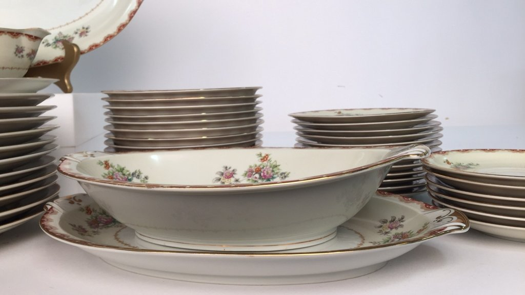 Partial Set MEITO CHINA Ivory Floral - 5