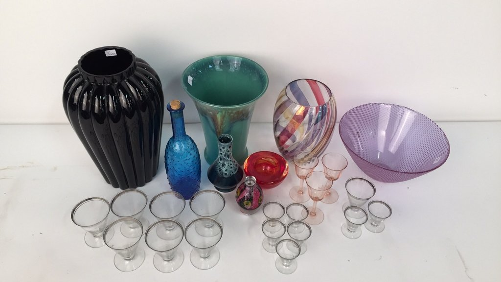 Group Lot Mixed Vases and Glassware - 2