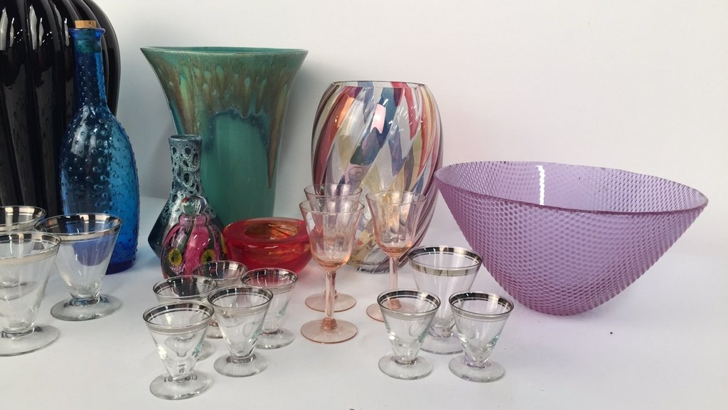 Group Lot Mixed Vases and Glassware - 5