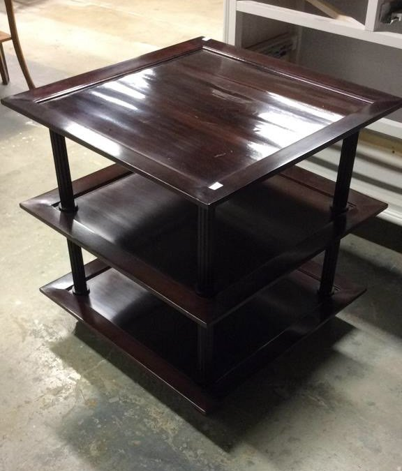 Three Tiered Baker End Table