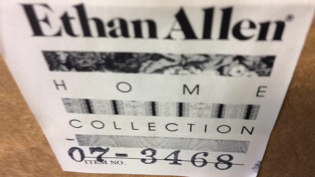 Ethan Allen Framed Asian Fan - 4