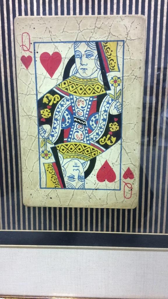 Queen Playing Card Mixed Media - 2