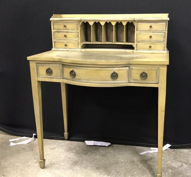 Vintage Petite Writing Desk Secretary Hutch
