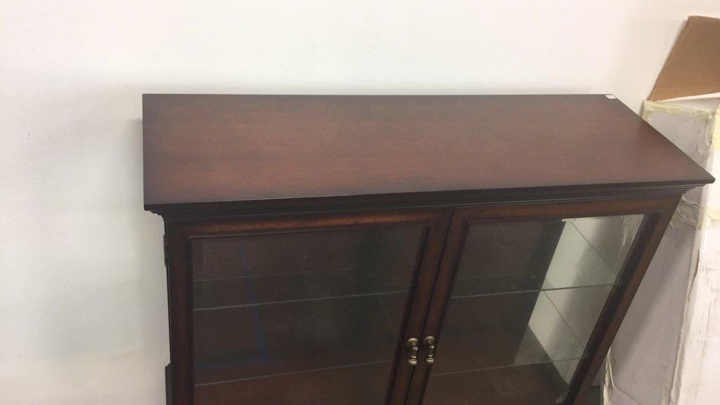 Vintage Wood & Glass Display Cabinet - 3