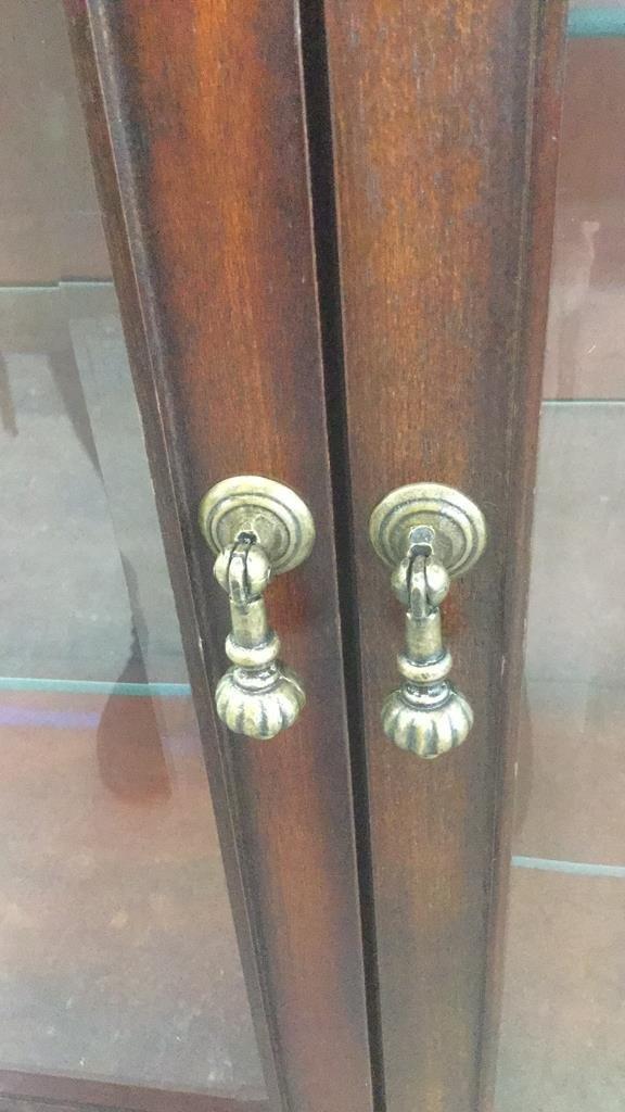 Vintage Wood & Glass Display Cabinet - 4