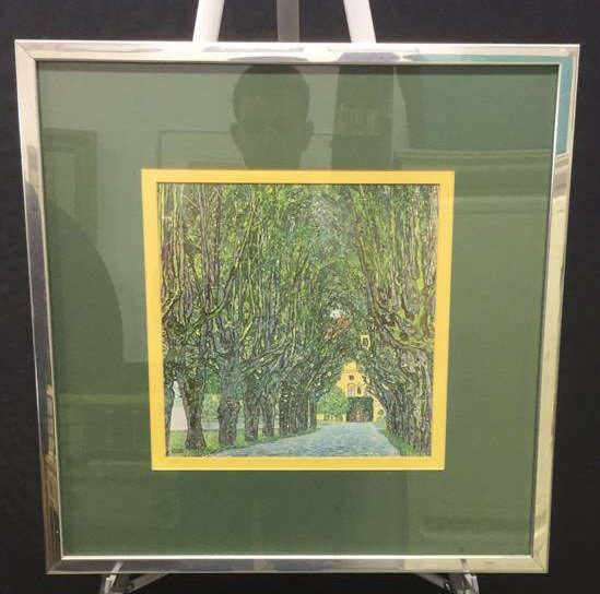 Framed Art Work of Tree Lined Path