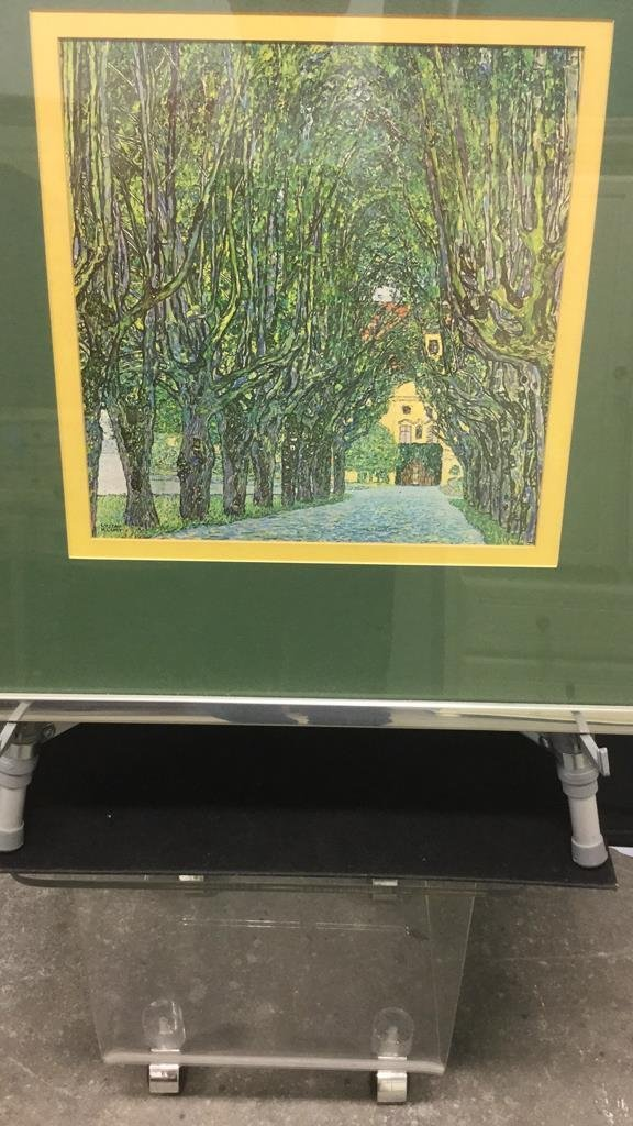 Framed Art Work of Tree Lined Path - 2