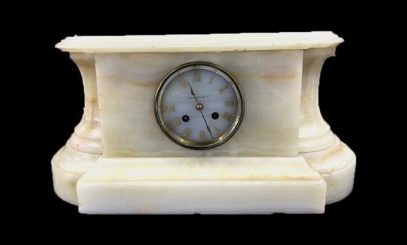 Antique TIFFANY & CO Marble Mantle Clock