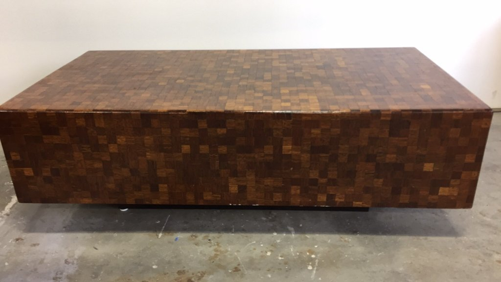 Parquetry Checkerboard Cocktail Table - 10