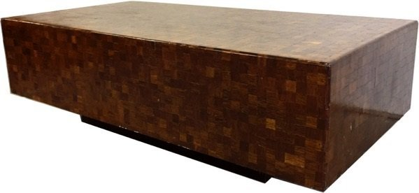 Parquetry Checkerboard Cocktail Table