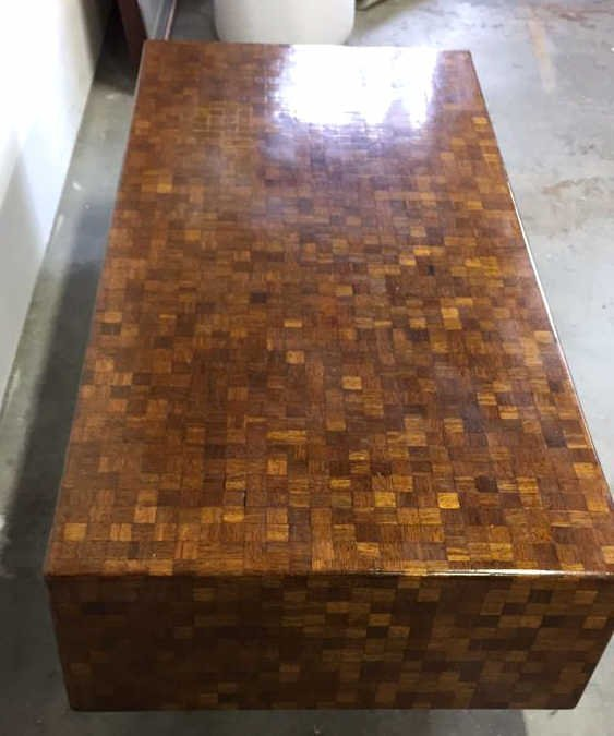 Parquetry Checkerboard Cocktail Table - 2
