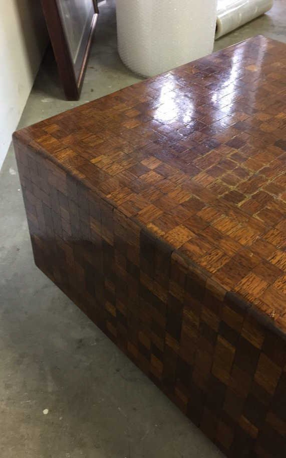 Parquetry Checkerboard Cocktail Table - 4