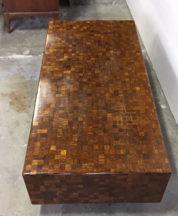 Parquetry Checkerboard Cocktail Table - 6
