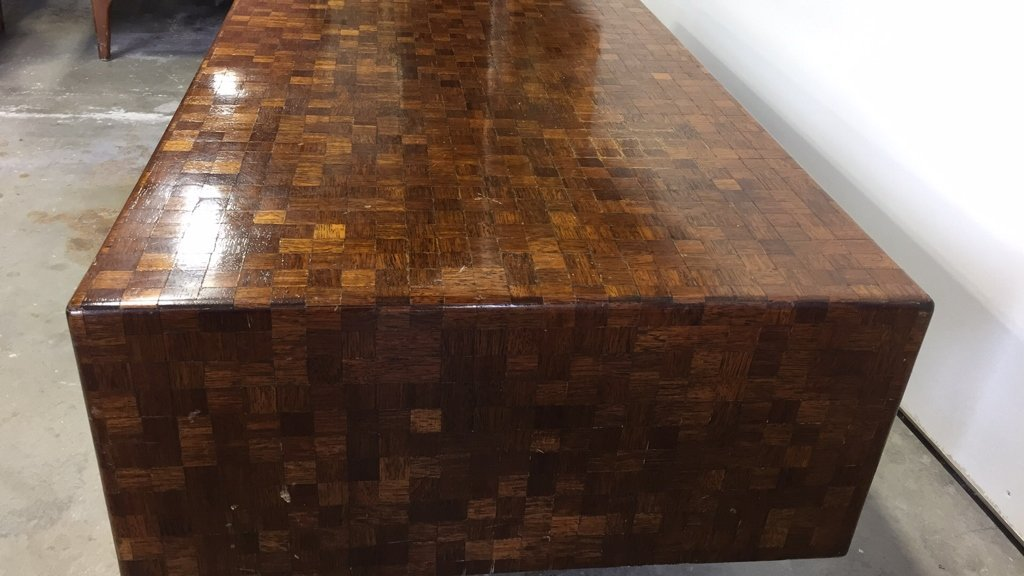 Parquetry Checkerboard Cocktail Table - 7