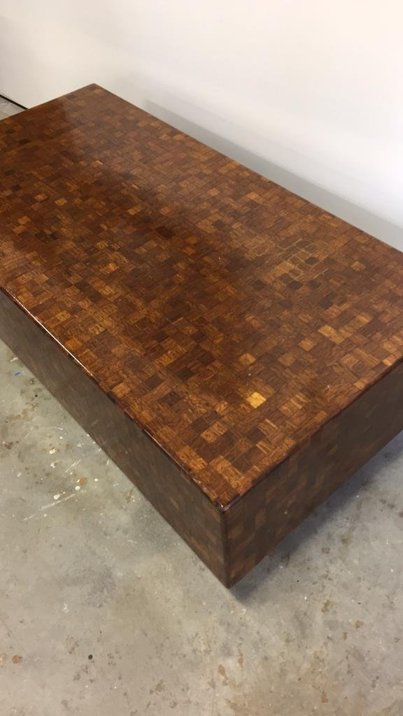 Parquetry Checkerboard Cocktail Table - 8