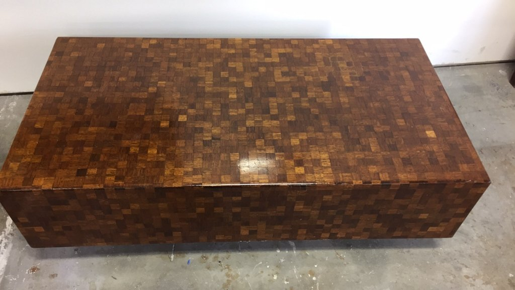 Parquetry Checkerboard Cocktail Table - 9