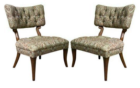 Pair Dorothy DRAPER Style Klismos Side Chairs