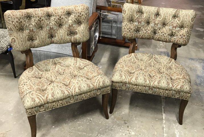 Pair Dorothy DRAPER Style Klismos Side Chairs - 2