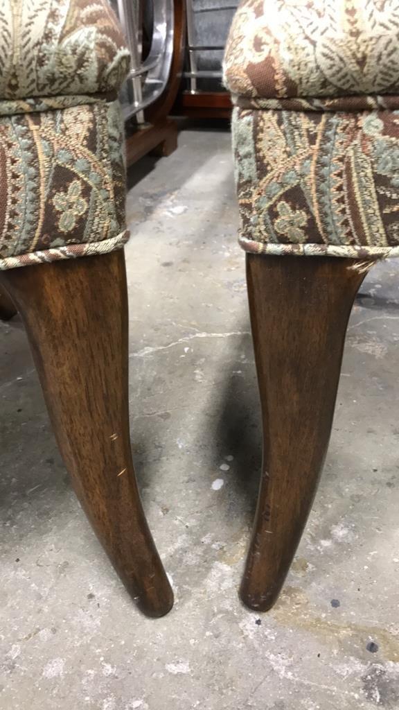 Pair Dorothy DRAPER Style Klismos Side Chairs - 7