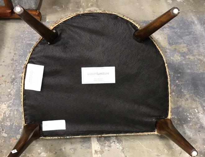 Pair Dorothy DRAPER Style Klismos Side Chairs - 8