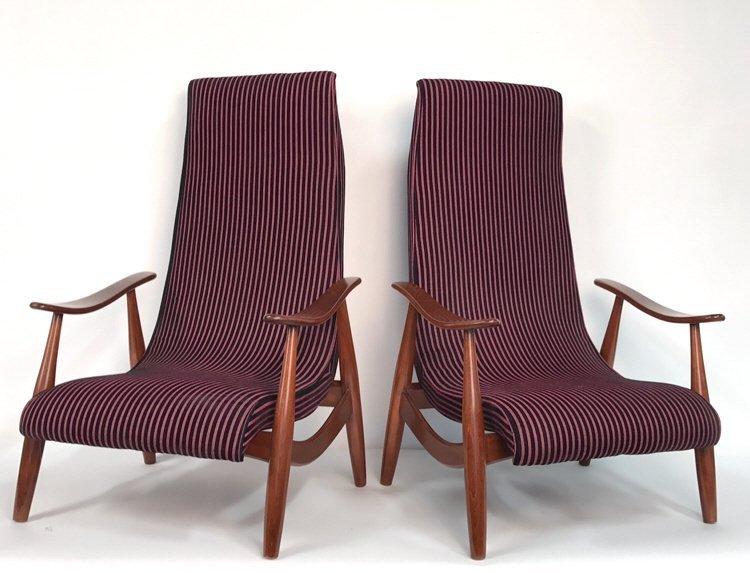 Pair Mid Century Modern Style Chairs