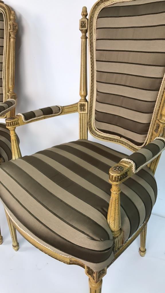 Pair of Italian Hi Back Arm Chairs - 5
