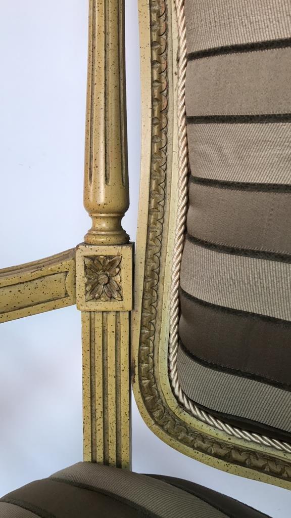 Pair of Italian Hi Back Arm Chairs - 8