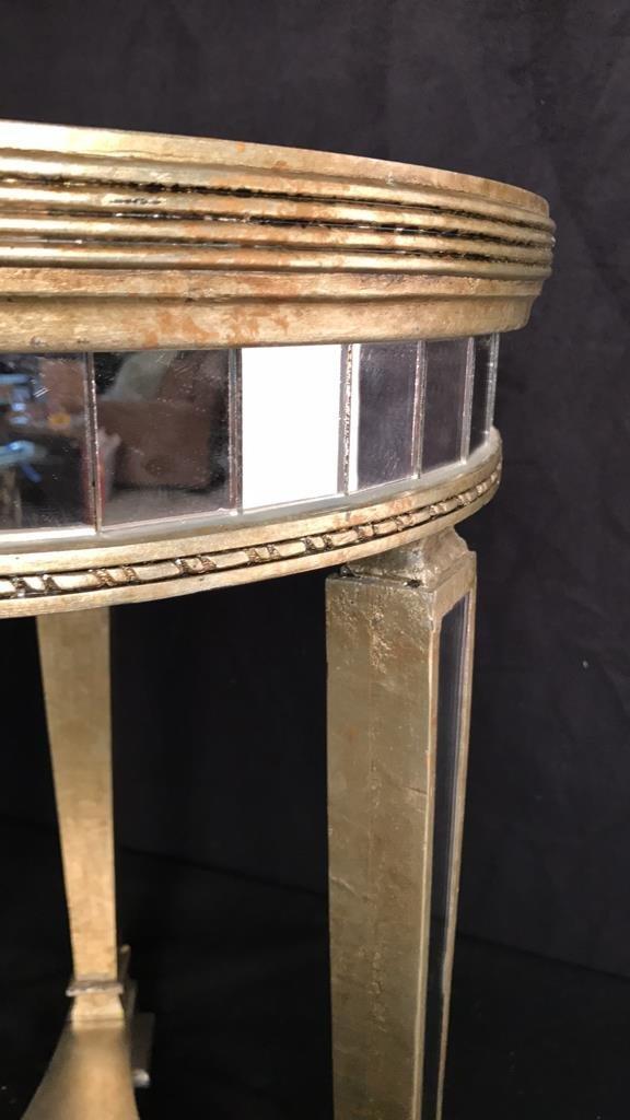 Pair Regency Mirror on Mirror Round Side Tables - 8